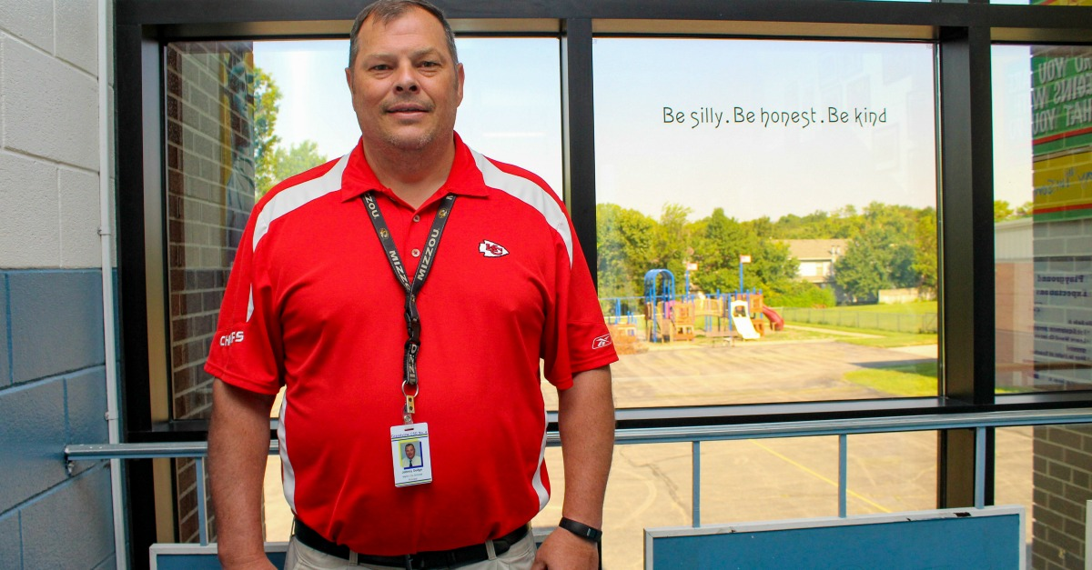 Principal Johnny Dodge has spent most of his 25-year career in Martin City.