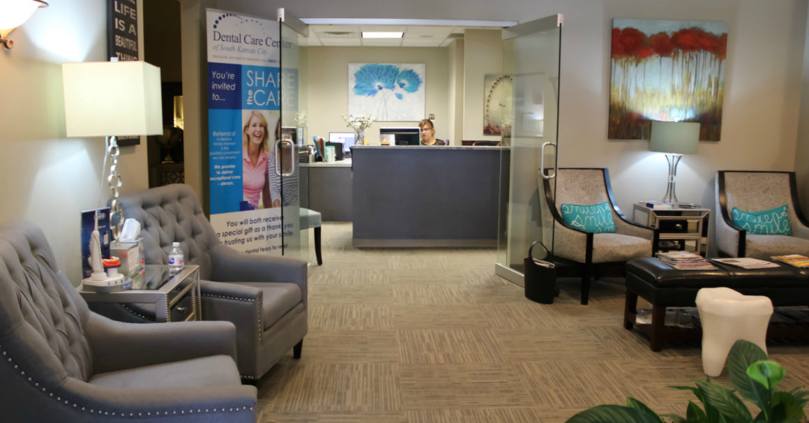 You truly feel welcome as you check in for an appointment at the Dental Care Center of South Kansas City