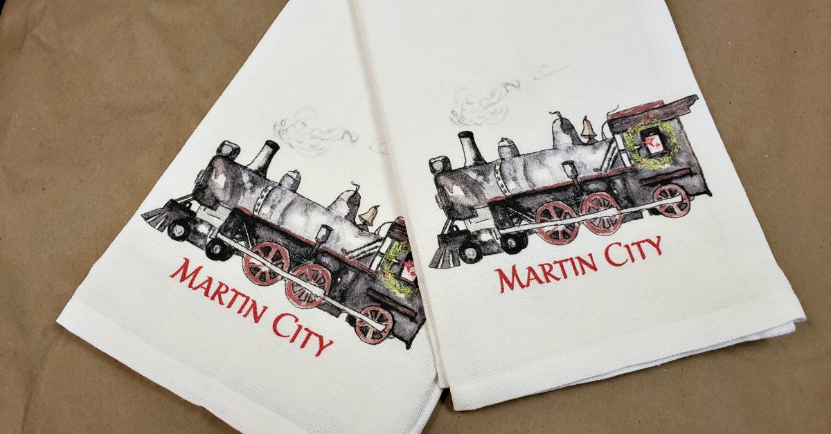 martin city towels sidelines custom floral