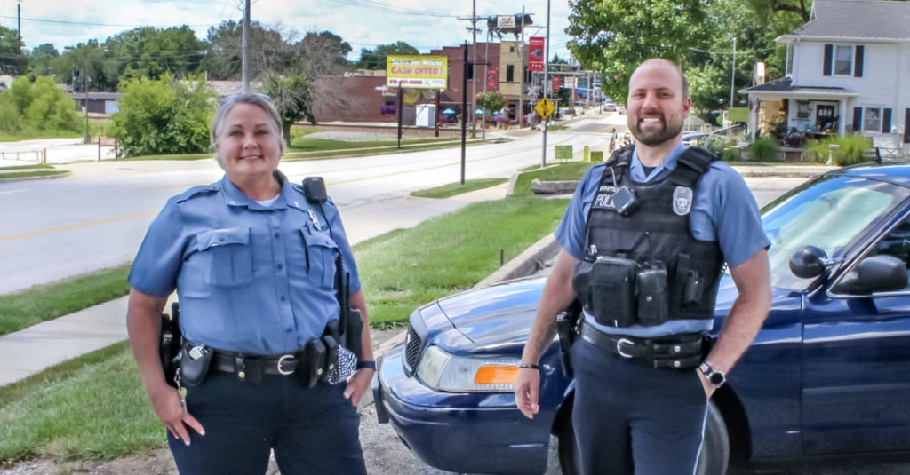 Officers Mary McCall and Aaron Whitehead are Community Interaction Officers in Martin City.
